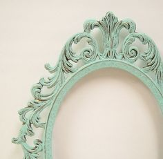 Shabby Chic Frames Mint Green Oval Picture Frame Vintage Baroque Wedding party  Decor