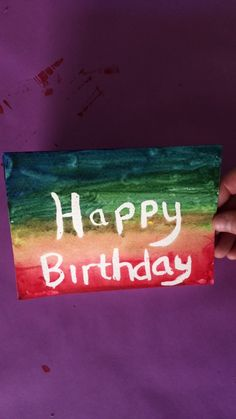DIY Watercolor Birthday Card