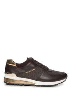 Sneakers Allie Wrap Trainer BROWN/GOLD - Michael - Michael Kors - Designers - Raglady