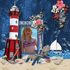 Credits: Surf, Sand and Sea created by Manu Scraps available at Digital Scrapbooking Studio