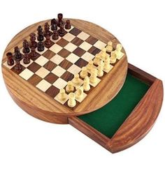 #Magnetic #wooden chess set storage #drawer portable top quality board games 7'',  View more on the LINK: http://www.zeppy.io/product/gb/2/272522691372/