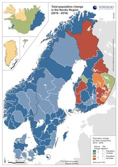 Population change in the Nordics