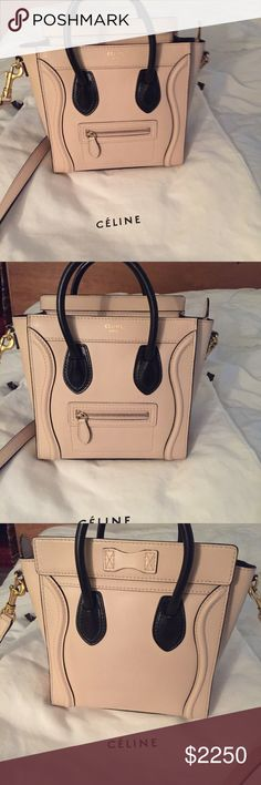 Celine nano Authentic Celine nano bag.  Used only twice. Almost new. bought it from Barneys. Retail 3100$+ taxes. Limited color and style. Sold out! rare. No trade. Celine Bags Crossbody Bags