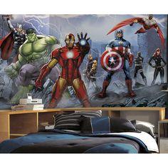 Avengers Assemble XL Wallpaper Mural 10.5' x 6' - Popular Characters - XL Wallpaper Murals - Wallpaper & Murals | RoomMates Peel and Stick Décor