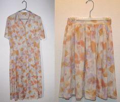 turn an old dress into a cute skirt!