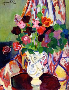 tulip bouquet paintings | Suzanne Valadon - Bouquet of Tulips