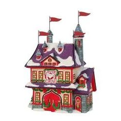 """Rudolph the Red Nosed Reindeer """"Santa's Castle"""" Christmas Village Lighted Building Department 56"""