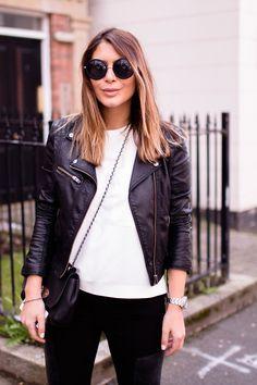 Black leather jacket. The perfect wardrobe staple. | Natalya Kanj