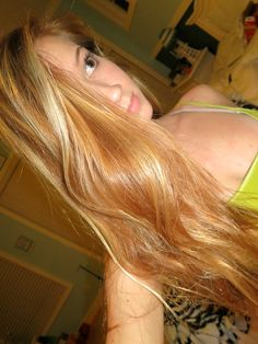 Strawberry blonde with blonde highlights...can anyone guess what my new obsession is??