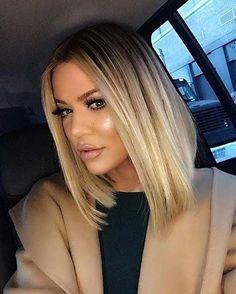 Khloe Kardashian's Blonde Lob