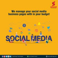 We manage your Social Media Business Pages with in your budget For more Information WhatsApp us @ +91 93 98 97 26 30 www.sophicapp.com #digitalmarketingcompany #bestdigitalmarketingagency #BesDigitalMarketingAgencyinhyderabad #DigitalMarketingCompanyHyderabad #digitalmarketingservices #topdigitalmarketingservices #BestDigitalMarketingServicesinHyderabad Business Pages, Digital Marketing Services, Web Application, App Development, Mobile App, Budgeting, Social Media, Technology, Tech