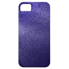 Blue Leather Look iPhone 5 Cover