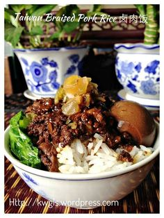 Taiwanese Cuisine- Braised Minced Pork Rice - -You can find Taiwanese cuisine .Famous Taiwanese Cuisine- Braised Minced Pork Rice - -You can find Taiwanese cuisine . Braised Beef Short Ribs {over Mashed Potatoes with Parmesan and Greens} Chashu Pork Recipes, Asian Recipes, Cooking Recipes, Ethnic Recipes, Indonesian Recipes, Japanese Recipes, Orange Recipes, Cooking Tips, Chinese Cooking Wine