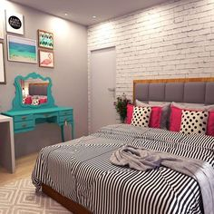 The Best 2019 Interior Design Trends - Interior Design Ideas Dream Bedroom, Home Bedroom, Diy Bedroom Decor, Home Decor, Bedrooms, New Room, House Rooms, Style At Home, Girl Room