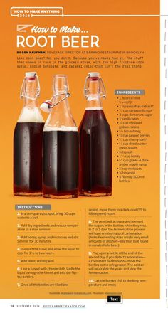 How to make rootbeer Homemade Wine Recipes, Homemade Alcohol, Beer Recipes, Alcohol Recipes, Homemade Rootbeer Recipe, Fruit Drinks, Yummy Drinks, Healthy Drinks, Beverages