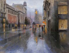 Madrid, Oil On Canvas, Canvases, Drive Way, Scenery, Illustrations
