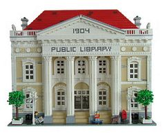 ~ Lego MOCs City ~ Public Library, Front view | by Johan_vd_Heuvel (Teddy)