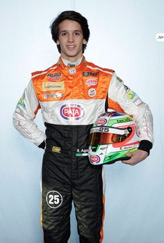 #Ricky Agostini with his #Teca25 helmet for #AutoGP World Series