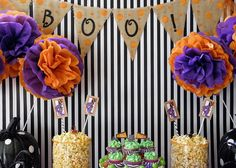 Black & White Halloween Party by Party Patisserie