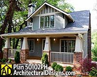 Classic Craftsman Cottage With Flex Room -- narrow lot ready!