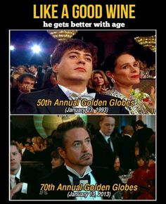Robert Downey Jr has been entertaing us since ages whether he is playing the role of The Iron Man or The Witty Detective Sherlock Holmes. Here are Tony Stark memes just for you Robert Downey Jr., Dc Movies, Movie Tv, I Smile, Make Me Smile, Sorry Justin, Chaning Tatum, No Kidding, Downey Junior
