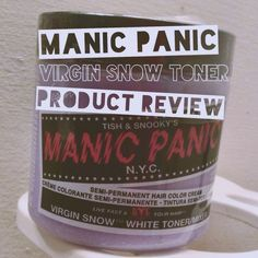 Manic Panic Virgin Snow toner product review + before/after pictures