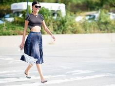 5 - Giovanna Battaglia Someone's been hitting her ModelFit classes regularly. Photo: YoungJun Koo/I'M KOO Street Style Shoes, Street Style Summer, Street Outfit, Giovanna Battaglia, Anna Dello Russo, Girl Outfits, Fashion Outfits, Stylish Outfits, Spring Fashion