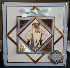 Another card using the Deco Delights collection and the glitter glaze adorable scorable card