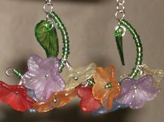 Multifloral hoops by uniqueeuphoria on Etsy, $15.00