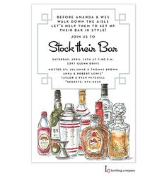 Stock the Bar Shower Party Invitations