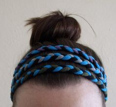 Headbands made from old t-shirts