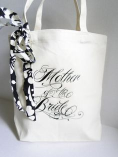 Brides canvas tote bag Mother of the Bride gift  by PaperFlora, $6.50