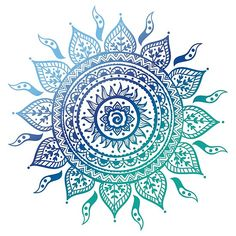 'Blue Gradient Mandala ' Poster by adjsr Millions of unique designs by independent artists. Find your thing. Mandala Mural, Mandala Wallpaper, Mandala Azul, Mandala Canvas, Mandala Stencils, Flower Mandala, Colorful Mandala Tattoo, Mandala Tapestry, Mandala Sonne Tattoo