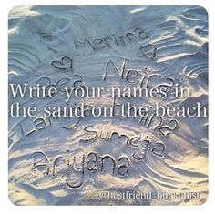 Best Friend Bucket List- I love doing this at the beach in the summer!!! I want do do it with all my best friends!!