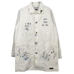 hand embroidered vintage gray workwear jacket 6jbhDzVzZh