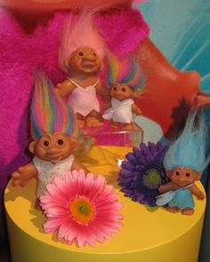 Trolls!! My whole room was filled with them if you stood out side of my house and looked at my window all you could see was bright hair everwere