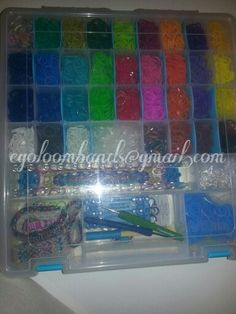 My rainbow loom storage case
