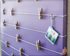 Bulletin Board Memo Holder Purple Ombre Kids Room by ChicMango