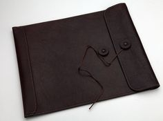 Daisy Arts Leather - Document Envelope (Brown)