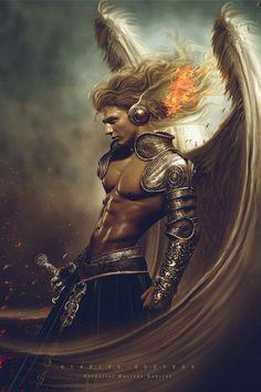 Celestial Warrior Gabriel by Carlos Quevdo - Advanced Photoshop http://www.advancedphotoshop.co.uk/image/62494/celestial_warrior_gabriel