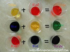 We Love Being Moms!: Mixing Colors