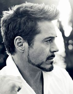 RDJ with Tony Stark's beard