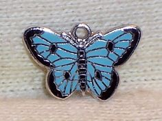 VINTAGE Sterling Silver Multi-Enamel  BUTTERFLY Charm by CCC #CCC