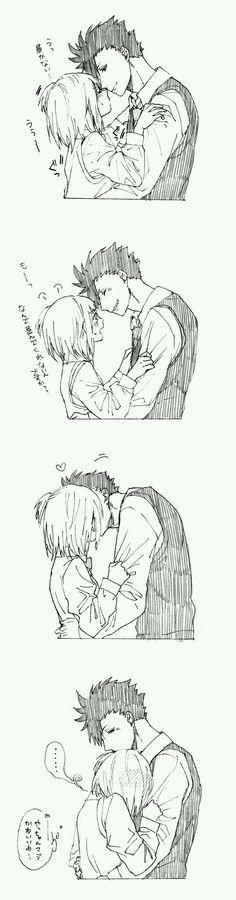 Kuro x Yachi  mini comics #anime #manga #love