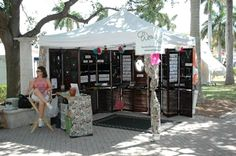 Love this organized and elegant look for a craft fair/jewelry show. http://jewelrymakingjournal.com/wired-orchid-craft-show-booth-the-sequel-2/