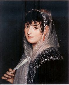 Zacarías González Velázquez (Spanish, Portrait of a Lady with a Fan (Retrato de dama con abanico), Oil on canvas Spanish Painters, Spanish Artists, Manet, Stella Art, Diego Velazquez, Baroque Painting, Italian Artist, Jan Van Eyck, Old Master