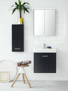Skapa - A furniture range developed for smaller bathrooms. Without compromises. Ehlén Johansson and Mia Lagerman have helped to develop Skapa.