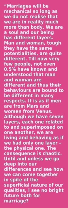 """Are men from Mars & women from Venus? Excerpt from the book """"Understanding Marriage"""" by the Spiritual Master Swami Paramananda Self Realization, Self Discovery, Mars, Venus, Meditation, Spirituality, Marriage, Science, Book"""