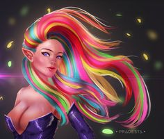 Rainbow Hair by pradesta