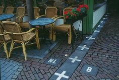 This is an unusual border line runs between Netherlands and Belgium in a small town called Baarle-Nassau.